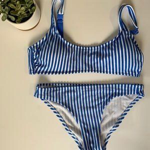 Stripe bikini L/S